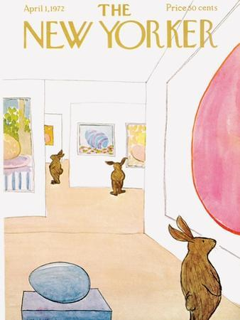 The New Yorker Cover - April 1, 1972 by James Stevenson