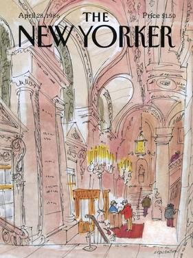 The New Yorker Cover - April 28, 1986 by James Stevenson