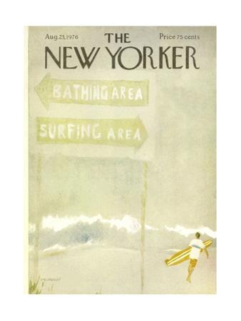 The New Yorker Cover - August 23, 1976 by James Stevenson