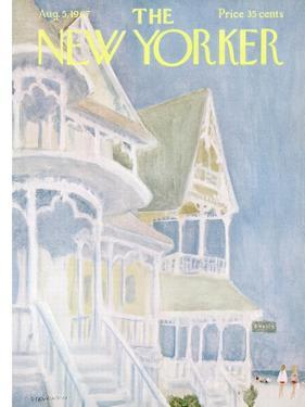 The New Yorker Cover - August 5, 1967 by James Stevenson