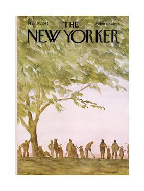 The New Yorker Cover - May 20, 1972 by James Stevenson