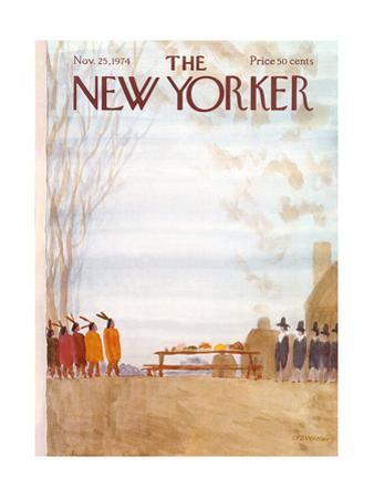 The New Yorker Cover - November 25, 1974 by James Stevenson