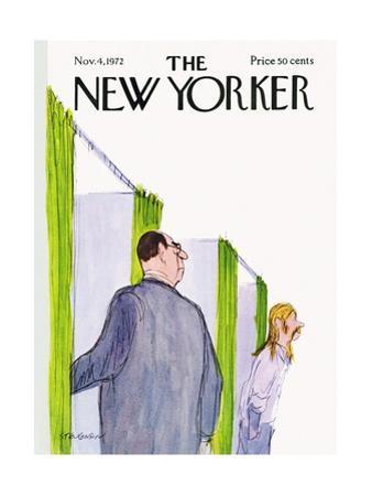 The New Yorker Cover - November 4, 1972 by James Stevenson