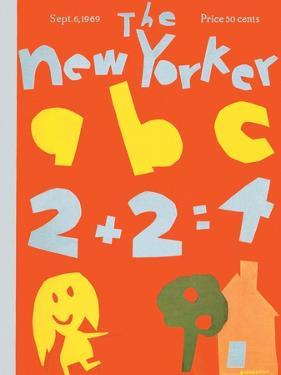 The New Yorker Cover - September 6, 1969 by James Stevenson