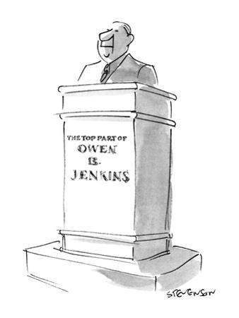 The Top Part of Owen B. Jenkins - New Yorker Cartoon by James Stevenson