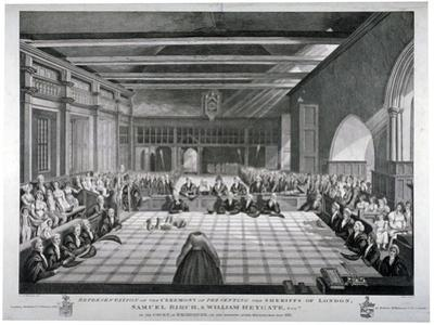 Ceremony in Westminster Hall, London, 1811