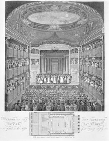 Interior of the New Theatre Royal Haymarket Engraving
