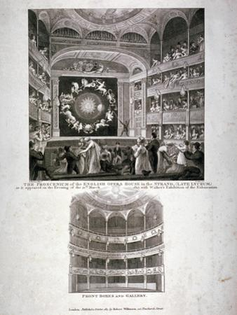 Theatre Royal English Opera House, Westminster, London, 1817