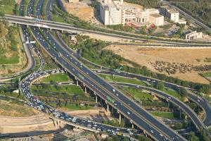 Aerial view of yet another traffic jam, Tehran, Iran, Middle East by James Strachan