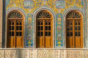 Ceramic tilework, Golestan Palace, UNESCO World Heritage Site, Tehran, Iran, Middle East by James Strachan