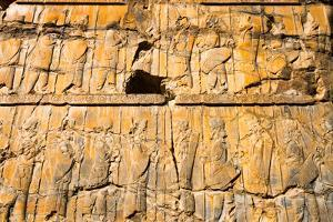 Detail from relief of 100 soldiers on a door jamb of the Palace of 100 Columns, Persepolis,UNESCO W by James Strachan