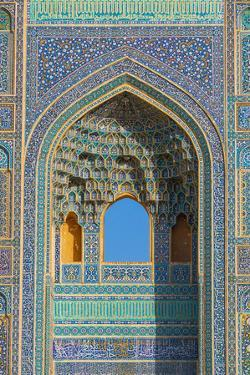 Facade detail, Jameh Mosque, Yazd, Iran, Middle East by James Strachan