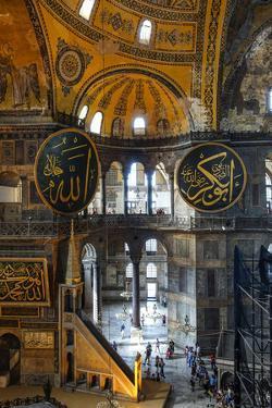 Haghia Sofia Interior, UNESCO World Heritage Site, Istanbul, Turkey, Europe by James Strachan