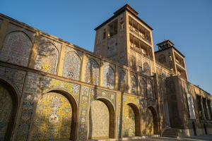 Shams-al Emarat Towers (Edifice of the Sun), Golestan Palace, UNESCO World Heritage Site, Tehran, I by James Strachan