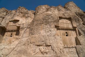 Tombs of Ataxerxes I and Darius the Great, Naqsh-e Rostam Necropolis, near Persepolis, Iran, Middle by James Strachan