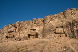 Tombs of Darius II, Ataxerxes I and Darius the Great, Naqsh-e Rostam Necropolis, near Persepolis, I by James Strachan