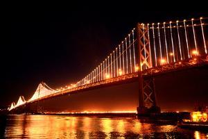 The Bay Lights Iconic Light Sculpture by Artist Leo Villareal on the San Francisco Bay Bridge by James Sugar