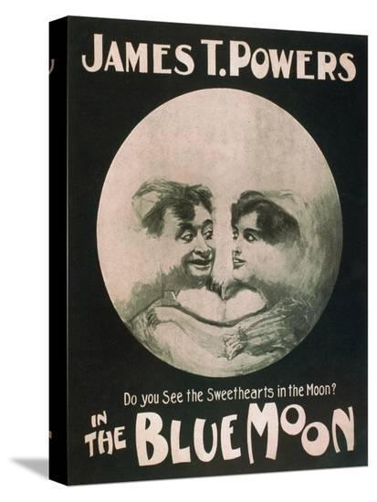 James T. Powers in The Blue Moon Theatre Poster-Lantern Press-Stretched Canvas Print