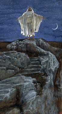 Christ Going Out Alone into a Mountain to Pray, Illustration for 'The Life of Christ', C.1886-94 by James Tissot