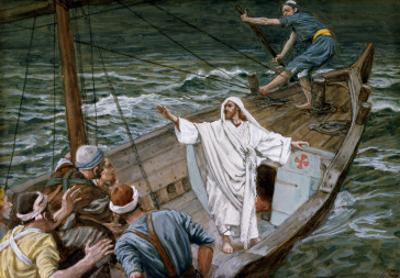 Christ Stilling the Tempest, Illustration for 'The Life of Christ', C.1886-94 by James Tissot