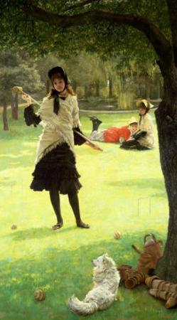 Croquet, circa 1878 by James Tissot