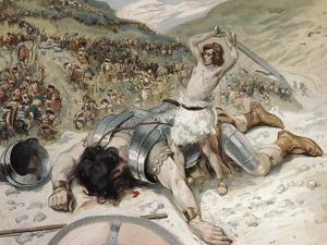 David Cuts off the Head of Goliath by James Tissot