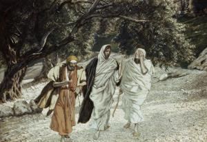 Disciples on the Road to Emmaus by James Tissot