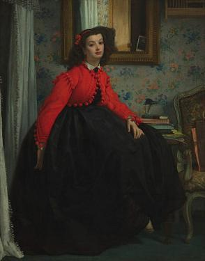 Girl with Red Vest, c.1864 by James Tissot