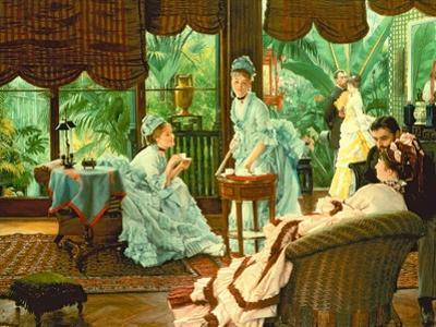 In the Conservatory by James Tissot