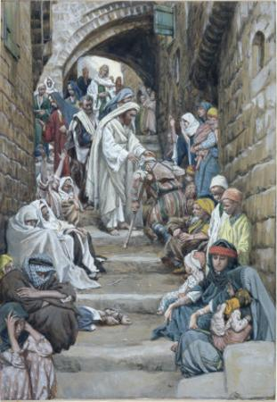 In the Villages the Sick Were Brought Unto Him, Illustration for 'The Life of Christ', C.1886-94 by James Tissot
