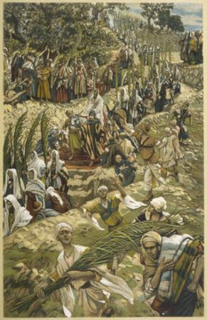 Jesus Enters Jerusalem on Palm Sunday by James Tissot
