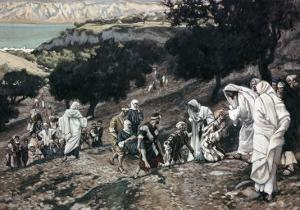 Jesus Healing the Lame and the Blind by James Tissot