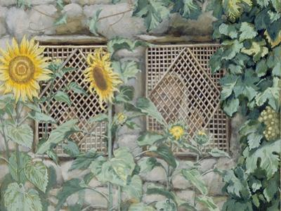 Jesus Looking Through a Lattice with Sunflowers, Illustration for 'The Life of Christ', C.1886-96 by James Tissot