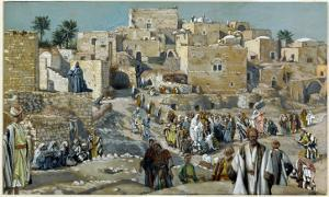 Jesus Passing Through the Villages on His Way to Jerusalem by James Tissot