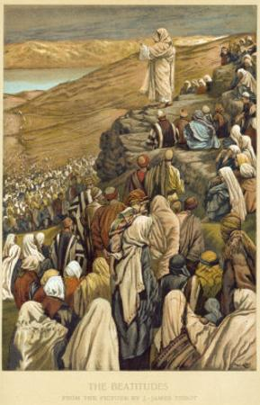 Jesus Preaches the Sermon on the Mount by James Tissot