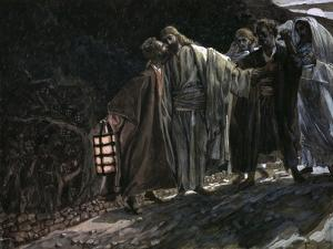 Judas Betraying Jesus with a Kiss by James Tissot