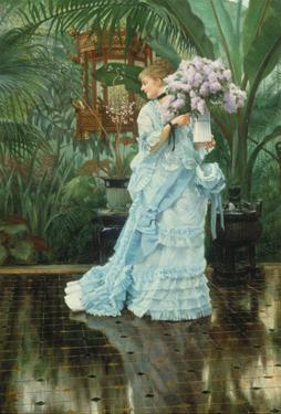 Lilac-Bouquet by James Tissot