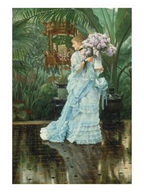 Lilac-Bouquet by James Tissot