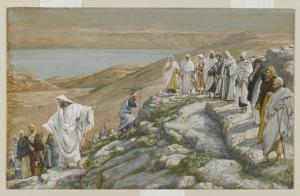 Ordaining of the Twelve Apostles, Illustration from 'The Life of Our Lord Jesus Christ' by James Tissot