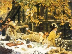 Picnic Lunch by Pool, 1876 by James Tissot