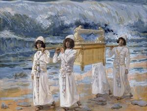 The Ark of the Covenant Passes over the Jordan by James Tissot