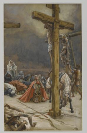 The Confession of Saint Longinus, Illustration from 'The Life of Our Lord Jesus Christ', 1886-94 by James Tissot