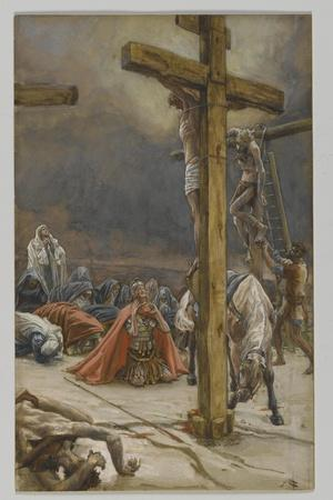 The Confession of Saint Longinus, Illustration from 'The Life of Our Lord Jesus Christ', 1886-94