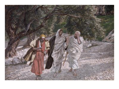 The Disciples on the Road to Emmaus, Illustration for 'The Life of Christ', C.1884-96
