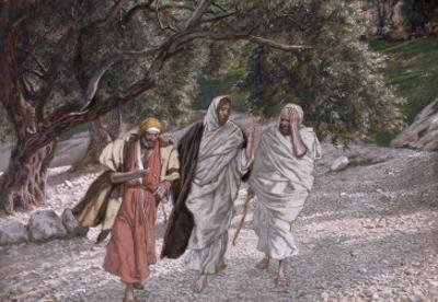The Disciples on the Road to Emmaus, Illustration for 'The Life of Christ', C.1884-96 by James Tissot