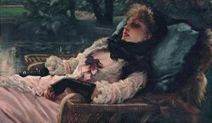 The Dreamer, of Summer Evening, c.1881 by James Tissot
