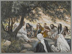 The Exhortation to the Apostles, Illustration from 'The Life of Our Lord Jesus Christ' by James Tissot