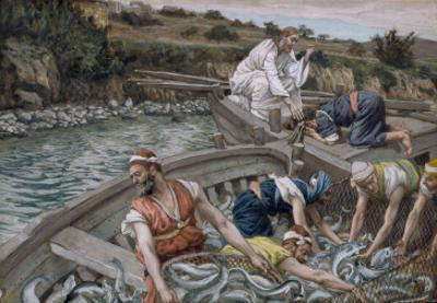 The First Miraculous Draught of Fish, Illustration for 'The Life of Christ', C.1886-94 by James Tissot