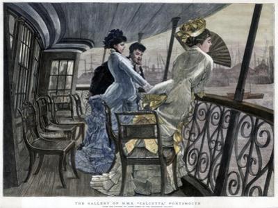 The Gallery of H M S Calcutta, Portsmouth, c1850-1900.Artist: James Tissot by James Tissot