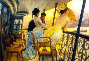 James Tissot The Gallery of the H.M.S. Calcutta Art Print Poster